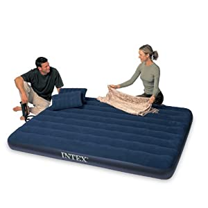 Intex Classic Downy Queen Airbed with 2 Pillows and Double Quick Hand Pump $16.99