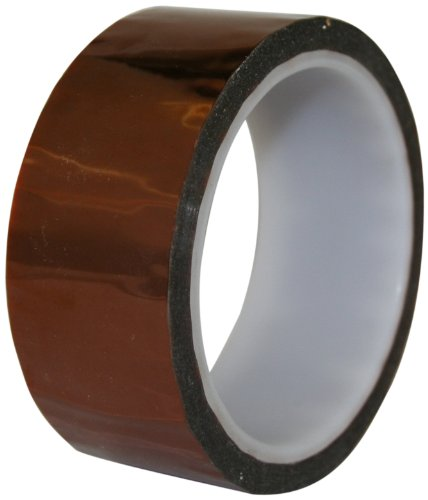 "Maxi 825 Polyamide Film Electrical Tape With Silicone Pressure Sensitive Adhesive, 1/2 Mil Thick, 36 Yds Length, 1"" Width, Amber"
