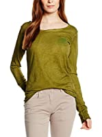 CMP Campagnolo Camiseta Manga Larga 3D43546 (Verde Bosque)