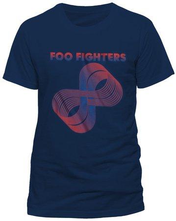 T Shirt Con Logo Dei Foo Fighters Loops (Blu) - Large