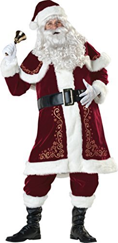 Jolly Ol' St. Nick Mr. Santa Claus Adult Mens Costume Red Suit Christmas Holiday
