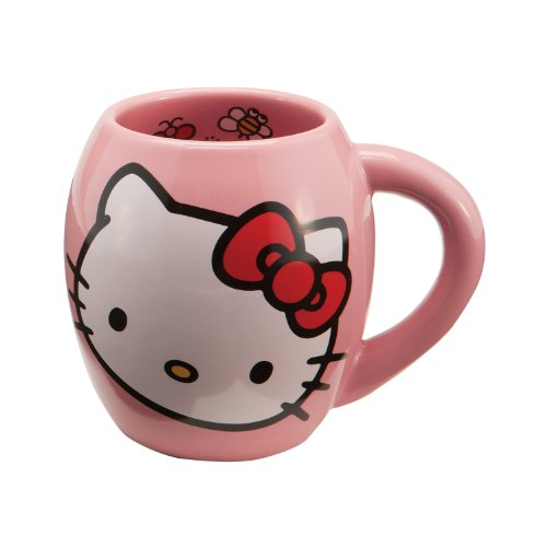 Vandor 18062 Hello Kitty Ceramic Mug, Pink, 18-Ounce