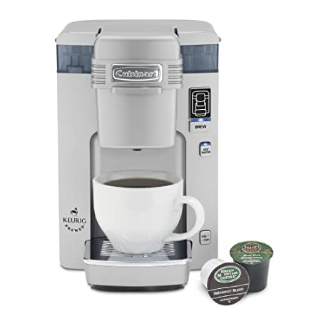 Features and Benefits  Easy as 1,2,3 - add desired amount of water, add K-Cup, and press to brew. Compact size gives you one perfect cup at a time.  Easy-Fill 10oz. Water Reservoir  with cup markings at 6, 8, and 10 ounces. The amount of water ad...