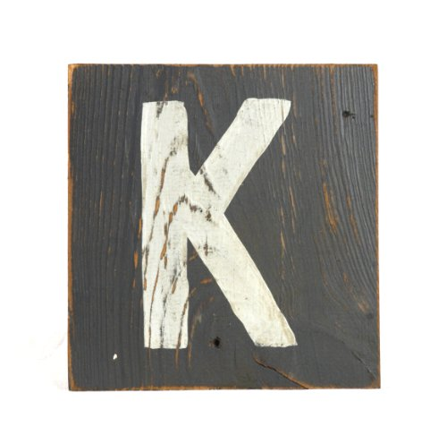 ZENTIQUE Wooden Letter, Small, Monogrammed K