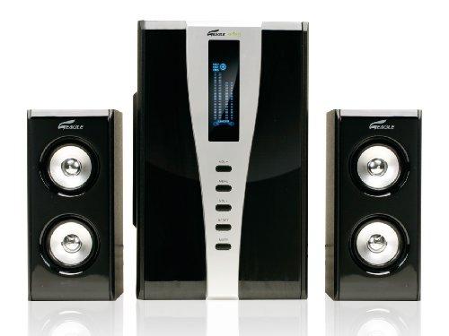 Eagle Arion ET-AR508LR-BK 2.1 Soundstage Speakers w/Subwoofer & Remote - 35Hz to 20kHz, 140 Watts