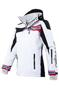 Nebulus Women's High End Platinum Freestyle Ski/Snowboard/Winter Jacket - White, X-Large