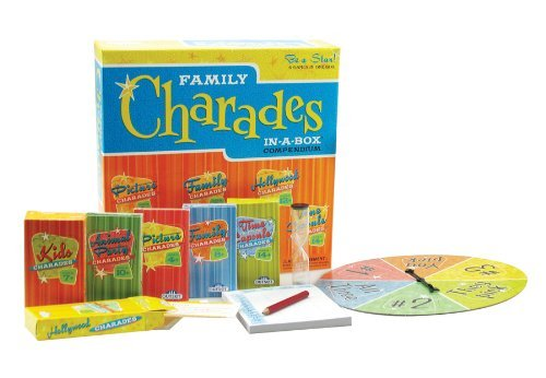 Charades Party Game - Family Charades-in-a-Box Compendium Board Game