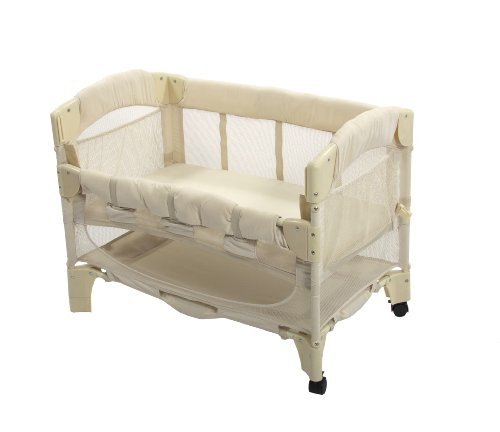 Arm's Reach  Euro Mini Arc Co-Sleeper Bedside Bassinet, Natural