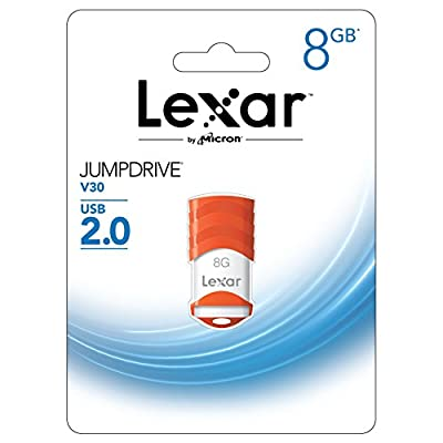 Lexar JumpDrive V30 8GB USB 2.0 Flash Drive - LJDV30-8GBABNL (Orange)