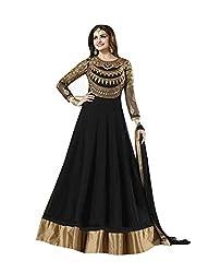 Culture Fab Black Georgette Anarkali Suit