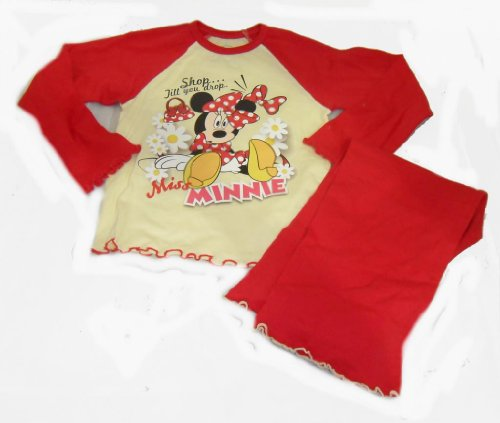 "Disney Girls Minnie Mouse ""Shop Till You Drop"" Long Pyjamas"