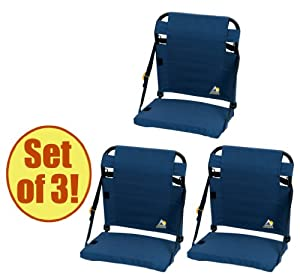 Set of 3 - GCI Outdoor BleacherBack Stadium Seat by GCI Outdoors