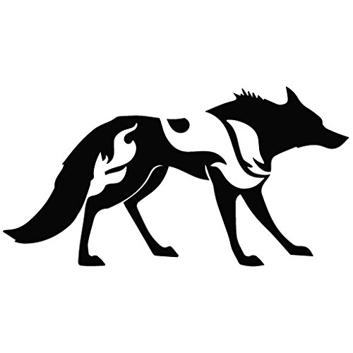 Wolf Attack Mode - Animal Decal Vinyl Removable Decorative Sticker for Wall, Car, Ipad, Macbook, Laptop, Bike, Helmet, Small Appliances, Music Instruments, Motorcycle, Suitcase
