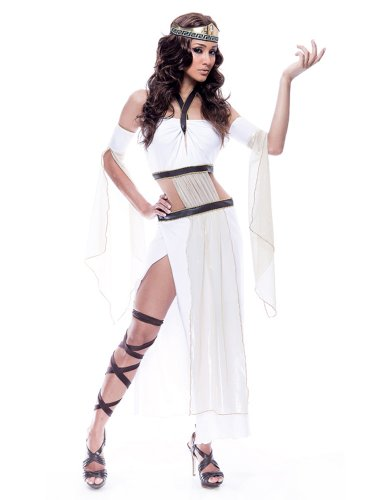 Sexy Grecian Goddess Costume Roman God Long White Dress