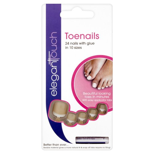 Elegant Touch False Toe Nails - French Bare - 051