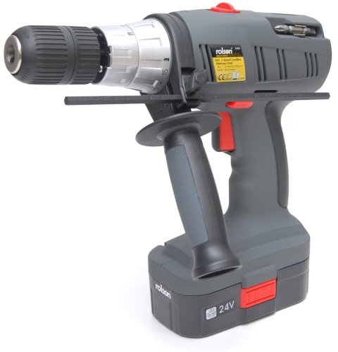 Rolson Tools 70759 24V 2-Speed Cordless Drill in Blow moulded case