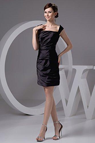 Graceful Square Neck Straps Column Little Black Dresses For Party 4882 18W Black