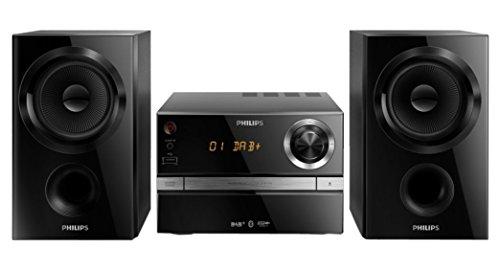 Philips BTB1370/12 Micro Chaîne Bluetooth CD/CD-R/CD-RW/MP3 Tuner FM Numérique et DAB 30W Noire