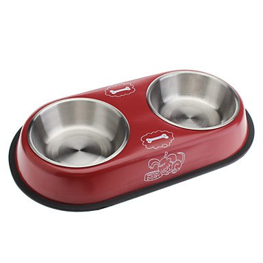 Zcl Lovely Style Metal Food Bowl For Cats And Dogs
