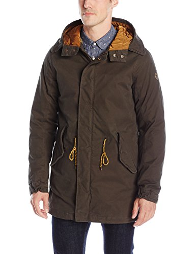 Scotch & Soda Classic Long Parka with Teddy Lining, Giacca Uomo, Grün (Racing Green 36), Large