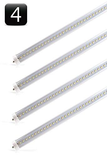 4-Pack Of Hyperikon® T8 Led Light Tube, 8Ft, 36W (75W Equivalent), 3560 Lumen, 4000K (Daylight), Ul Listed
