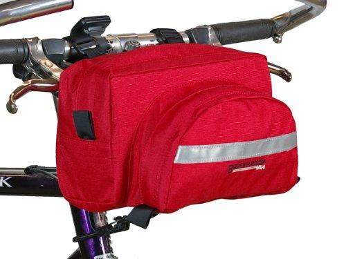 Bushwhacker Durango Red - Bicycle Handlebar Bag Cycling Front Pack Bike Bag