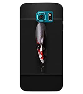 PrintDhaba Scary Face D-5670 Back Case Cover for SAMSUNG GALAXY S6 (Multi-Coloured)