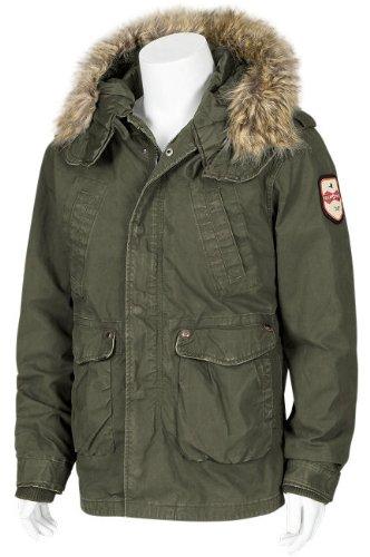 JET LAG Mens winter Jacket RS-10 olive M