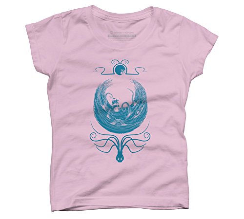 krakens-whirlpool-girls-medium-pink-youth-graphic-t-shirt-design-by-humans