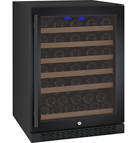 Big Save! Allavino VSWR56-1BWRN 56 Bottle Single Zone Wine Refrigerator with Black Door & Right Hing...