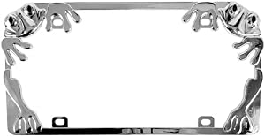 Custom Accessories 92760 Chrome Frog License Plate Frame by Custom Accessories