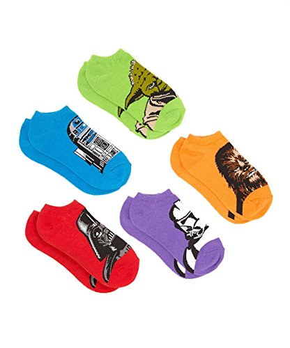 Disney Star Wars Big Boys' Character Socks - 5 pk.