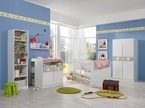 Kimba Babyzimmer Set 3tlg. Schrank 2trg. Alpinweiß  Eiche sägerau  Kundenberichte und weitere Informationen