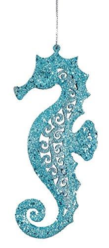 Teal-Blue-Glitter-Seahorse-Christmas-Ornament