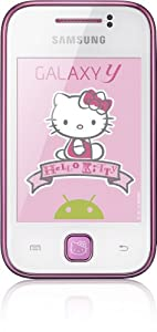 Samsung S5360 Galaxy Y Hello Kitty Smartphone (7,6 cm (3 Zoll) Touchscreen, 2 Megapixel Kamera, Android 2.3)