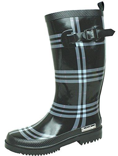 BOCKSTIEGEL® RITA Donna - Stivali di gomma alla moda (Taglie: 36-42), Colori:nero / Multi;Dimensioni:39