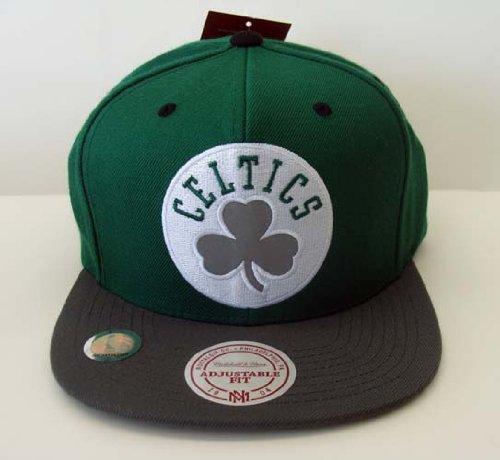 Boston Celtics Mitchell & Ness Reflective Bill & Logo Snapback Cap Hat