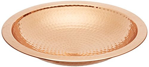 Achla Designs Hammered Copper Bowl,Rim Threaded