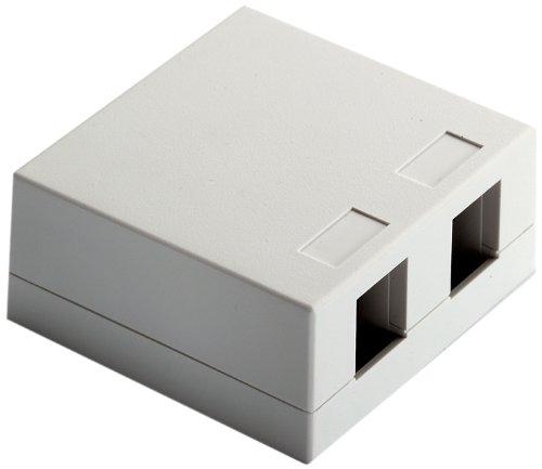 Onq / Legrand F9048Whv1 Surface Mount Box 2Port, White