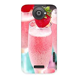 Gorgeous Strawberry Shake Back Case Cover for HTC One X