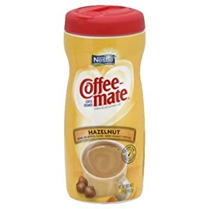Coffee-Mate, Hazelnut Powdered Coffee Creamer, 15-Ounce Canister (Pack of 3)
