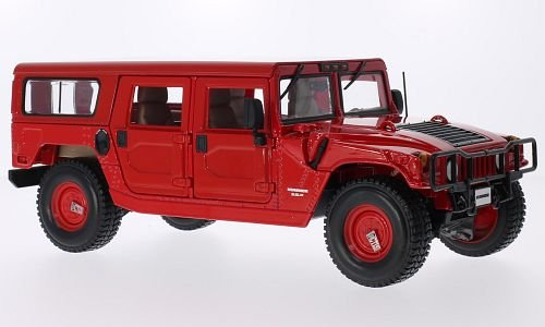 hummer-h1-4-door-wagon-rouge-voiture-miniature-miniature-deja-montee-maisto-118