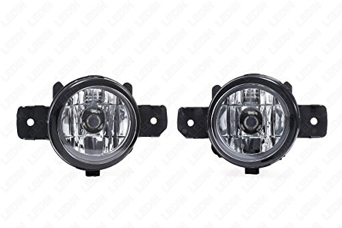 LEDIN 2004-2016 Nissan Sentra Front Bumper Clear Fog Light Assembly (Infiniti M45 Front Bumper compare prices)