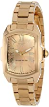 Invicta Womens 15157 Lupah Gold Dial 18k Gold Ion-Plated