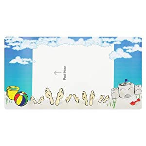 GBC PhotoPop SelfSeal Magnetic Photo Frames, Vacation Theme, Pack of 3