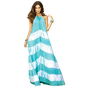An Elan Usa Maxi Halter Tie Flowy Long Dress (RY597)
