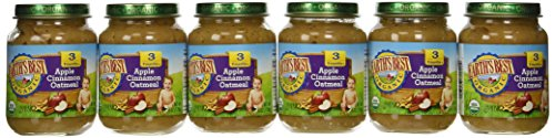 Earths Best 3rd Stage Organic Junior Apple Cinnamon Oatmeal Fruit, 6 Ounce -- 12 per case.