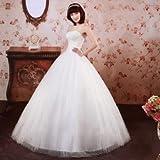 ウェディングドレス ウエディングドレス プリンセスライン (S, ホワイト)