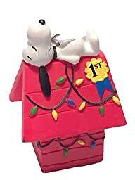 Hallmark Peanuts Snoopy on Doghouse Christmas Ornament 2015