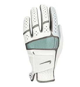 Nike Golf Women's Tech Xtreme IV Regular Left Hand Glove in White with Green Trim (Medium)